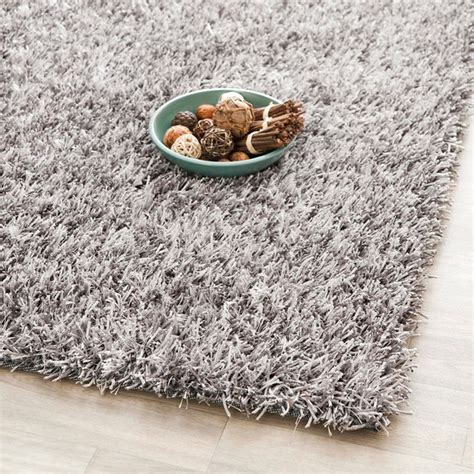 Grey 8x10 Area Rug Woven Medley Grey Textured Shag Rug Contemporary Rugs By Overstock
