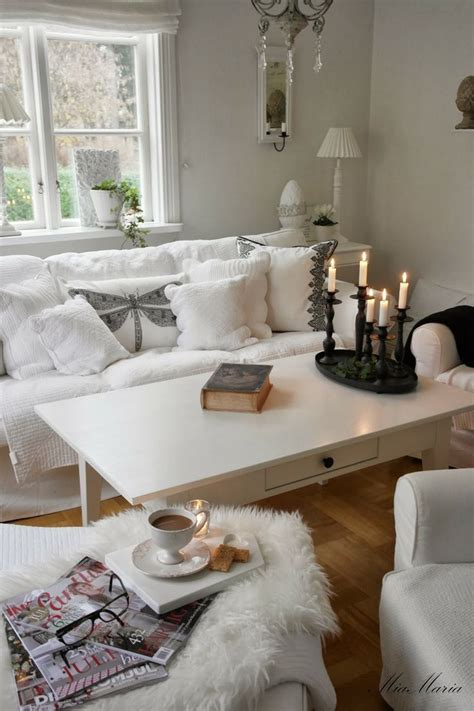 White Table For Living Room by Modern Shabby Chic Living Room Dgmagnets