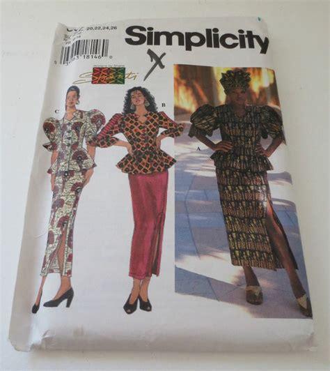 New Simplicity Shanti African Skirt Top Sewing Pattern