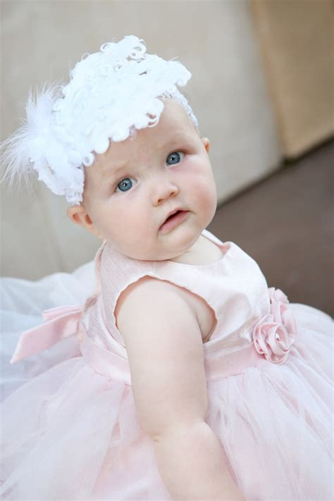Headband Baby Feather white baby headband baby headbands white feather