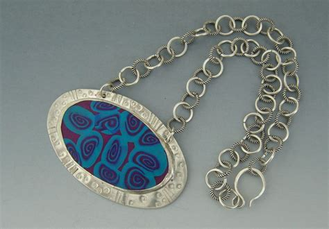 jewelry classes miami necklace sterling silver and polymer clay my work 2006