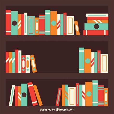 for colored book colored books background on a shelf vector free