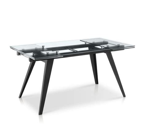 Modern Glass Dining Table With Extension Dining Accent Tables Dining Tables Kr 2048 Modern Glass Top Extension Dining Table