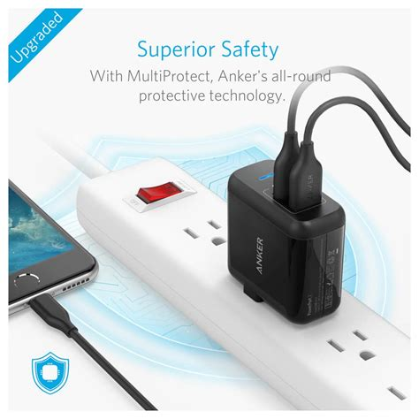 anker wall charger powerport 2 anker 2 port powerport usb wall charger a2141