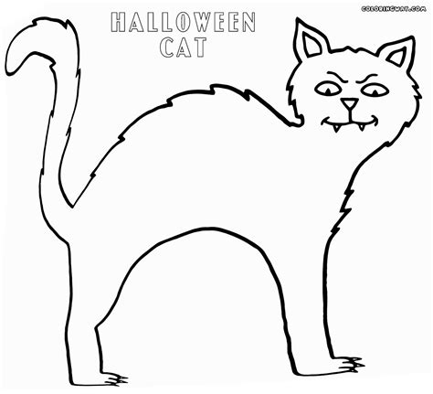 coloring page halloween cat halloween cat coloring pages coloring pages to download