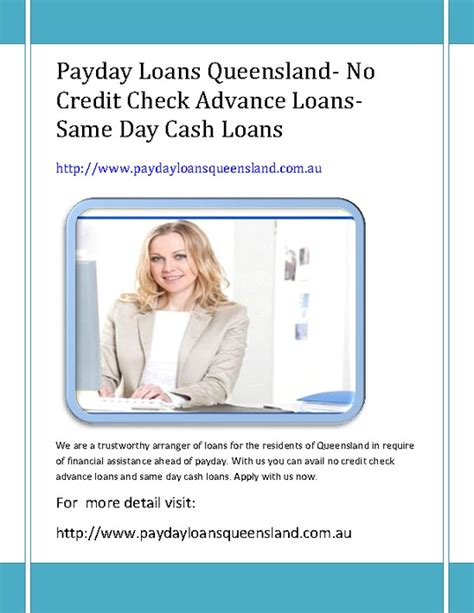 Payday Loans Today No Credit Check by Payday Loans Queensland No Credit Check Advance Loans Same Day Loans Pdfsr
