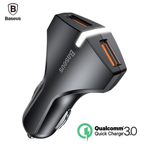 Vinsic Vscw215 Charger 3 0 Dual Port baseus charge 3 0 car charger 5v3a dual usb port qc3 0 charger mobile phone fast