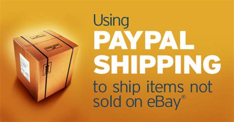 ship using paypal using paypal shipping to ship items not sold on ebay