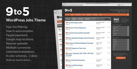 themeforest jobcareer 13 great themeforest wordpress themes that put wordpress