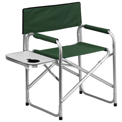 flash furniture aluminum folding cing chair with table
