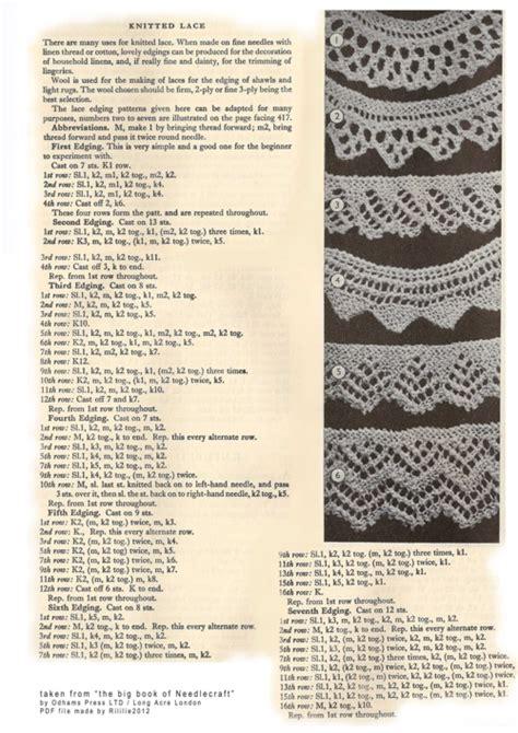 vintage lace knitting patterns vintage lace edgings knitting bee 2 free knitting patterns