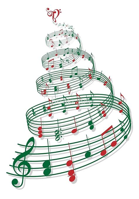 quot christmas tree with music notes and heart quot posters by