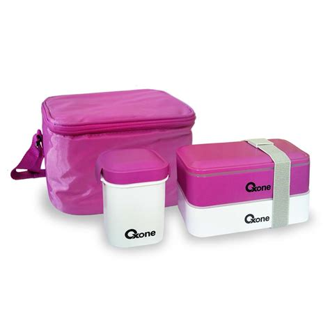 Ox 068 Oxone Bento Block With Thermal Bag Ungu ox 068 tempat bekal makanan bento block oxone oxonemurah
