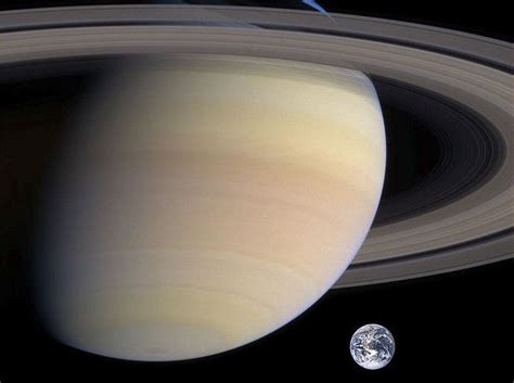how big is earthpared to saturn saturn compared to earth universe today