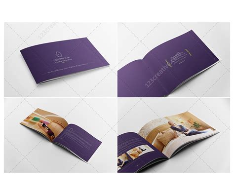 hotel brochure template photoshop and indesign brochure