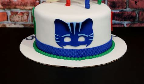 Kids Birthday Decorations At Home by Pj Masks Cake Cakecentral Com