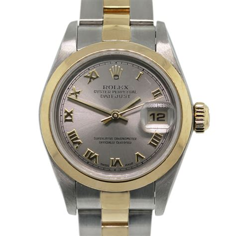 rolex datejust 79163 silver two tone