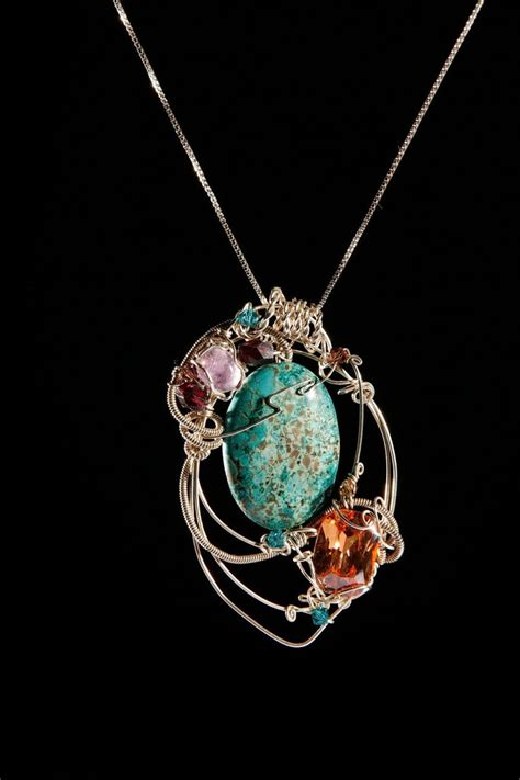 sterling silver wire wrapped jewelry chrysocolla
