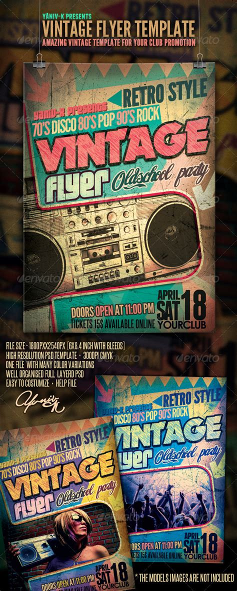 print template graphicriver vintage flyer template
