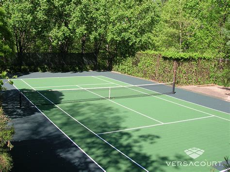 Backyard Tennis Courts versacourt court tile for tennis court construction