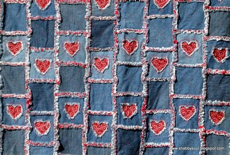 Denim Rag Quilt Pattern by Shabby Soul Rag Quilts