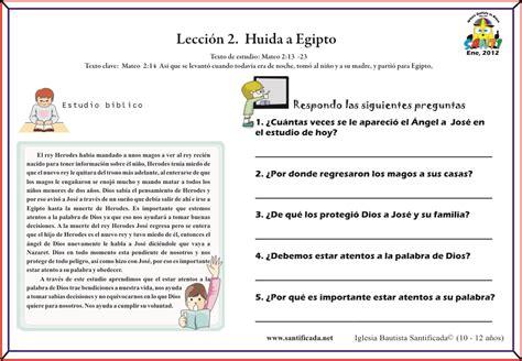 preguntas biblicas sobre el apocalipsis lecci 243 n 2 huida a egipto iglesia de ni 241 os