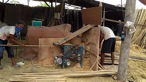 Mesin Laminasi Bambu mesin pembersih tulang bambu alat produksi bambu