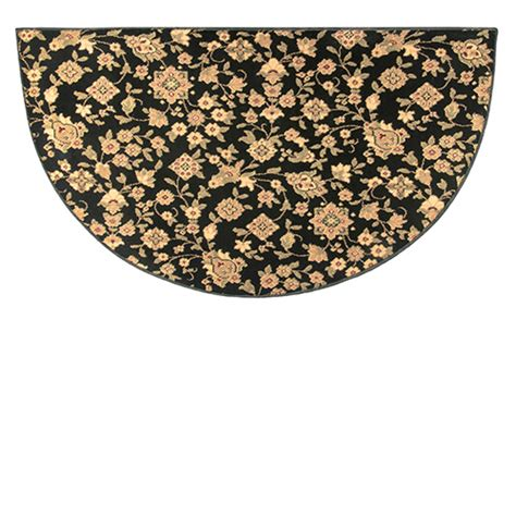half rugs sale goods of the woods floral black half hearth rug 27 inch x 48 inch