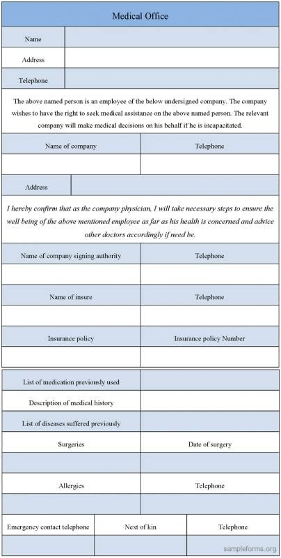 Medical Form Templates Template Business Emergency Medicine H P Template