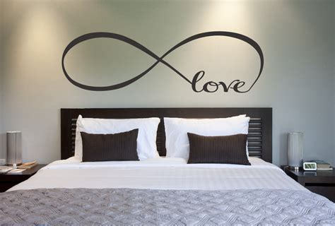Wall Plaques For Bedroom by Infinity Symbol Bedroom Wall Decal Decor