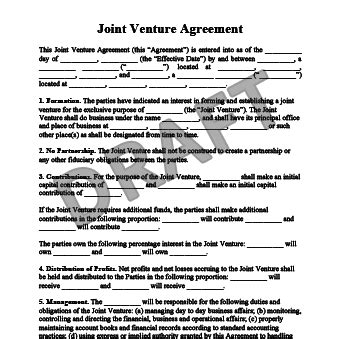 joint venture partnership agreement template create a joint venture agreemnent templates