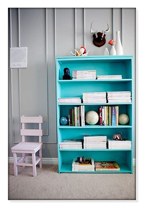 lovely color for a bookcase for the of turquoise