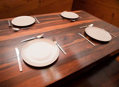 Setting Cutlery For A Dining Table Free Image Of Dinner Table Set With Four Place Settings