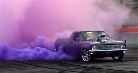 color burnout tires 1tufhg coloured smoke burnout at cruise 4 charity 10