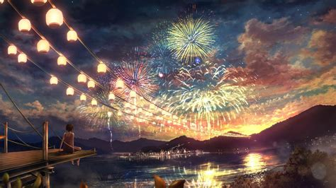 anime fireworks anime fireworks wallpaper wallpaper studio 10 tens of