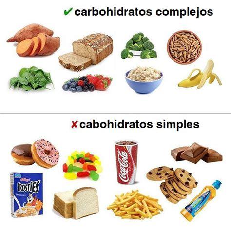 alimentos de carbohidratos carbohidratos simples y carbohidratos complejos