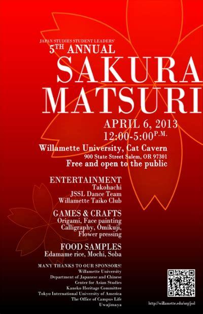 Willamette Mba Schedule by Japan Studies Student Leaders Matsuri