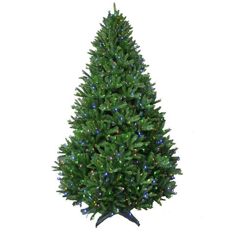 home depot 9 foot douglas fir artificial treee 9 ft feel real downswept douglas fir artificial tree with 900 multi color lights
