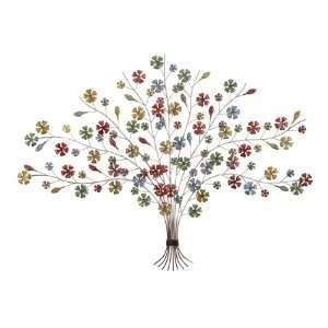 tree of wall decoration branch shells home olive