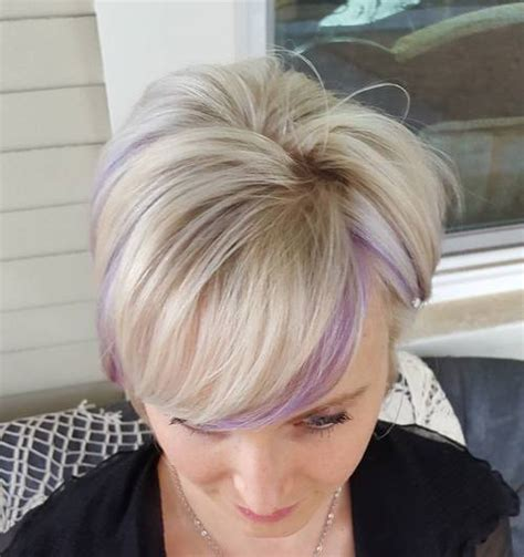 short hairstyles color streaks 40 versatile ideas of purple highlights for blonde brown