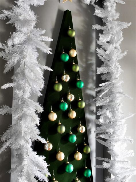 how to make a wall mounted christmas tree alternative hgtv