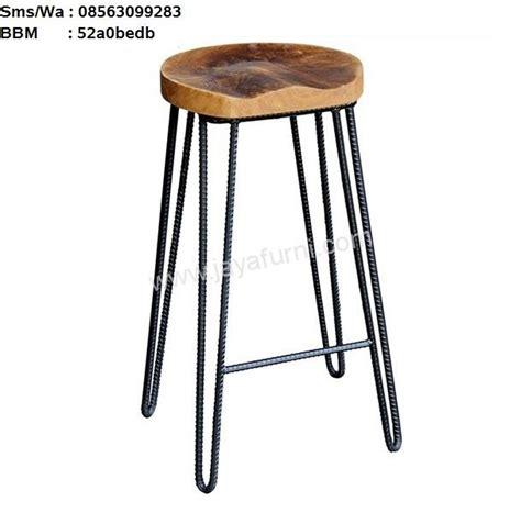 Kursi Bar Stool Kayu kursi bar stool kaki besi jayafurni mebel jepara