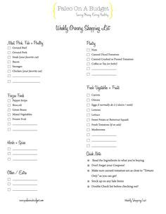 Paleo Pantry Checklist by New Shoppings Lists Pantry List Shopping Lists