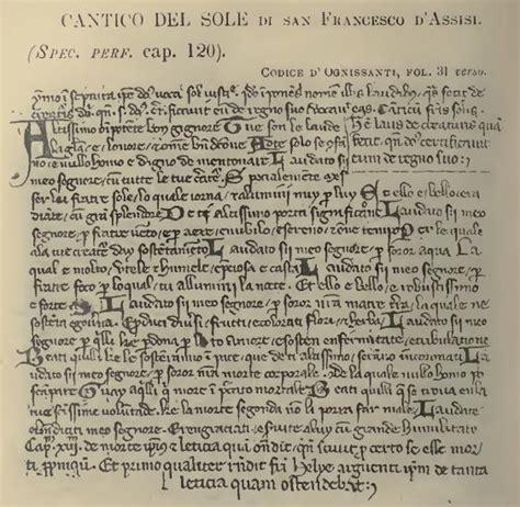 cantico di frate sole testo auguri a tutti i francesco d italia la storia patrono