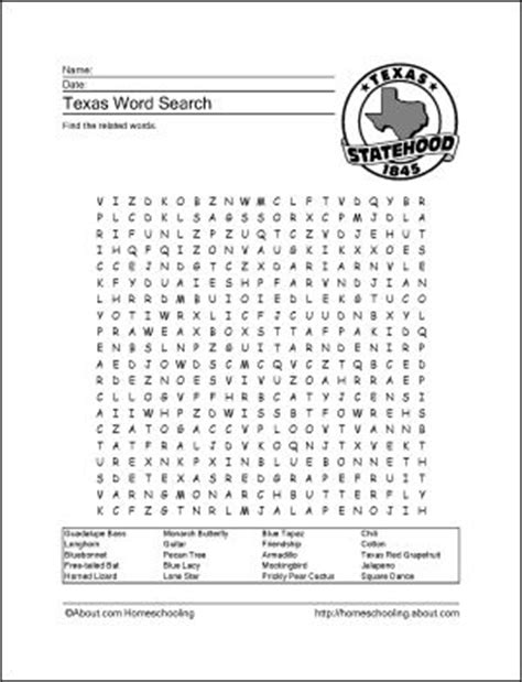 printable word search social studies learn about texas with these free printables activities