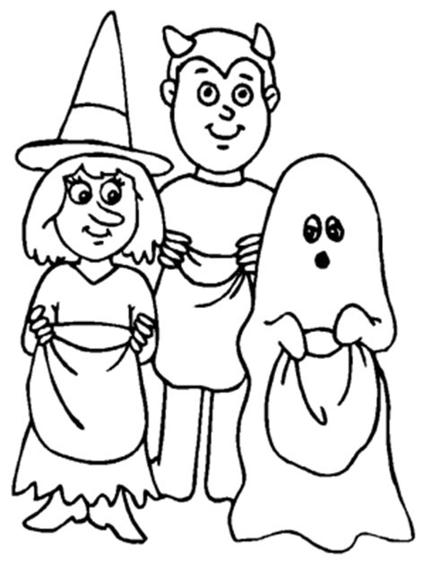 halloween coloring pages trick or treat halloween scary halloween coloring page for kids halloween