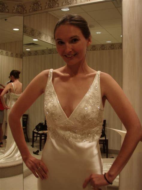 v neck dress necklace weddingbee