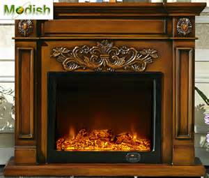 led realistic electric fireplace decorative