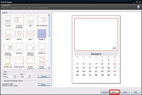 how to make a calendar with pictures editing photos in zoner photo studio create your own calendar