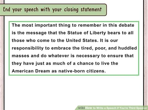 speaker debate template 3 ways to write a speech if you re third speaker wikihow
